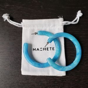 NWOT Machete Grande Hoops French Coast Blue